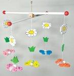 Babymobil, fjärilar (pastell)