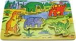 barnpussel dinosarier träleksak