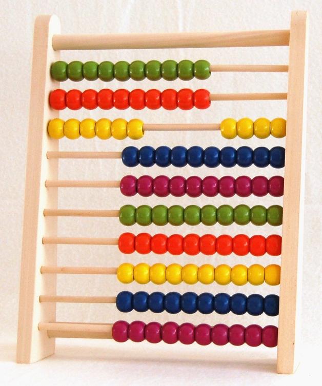 Räkneram/abacus i trä