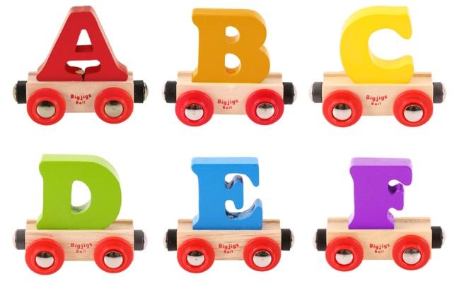 Tågbokstäver A-F